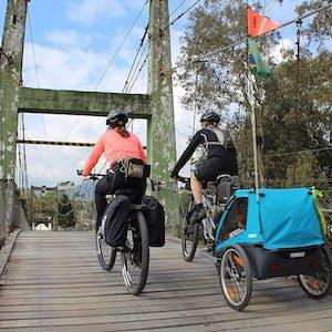 Sykkelvogn og barnesete